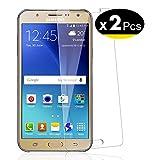 NEW'C Lot de 2, Verre Trempé pour Samsung Galaxy J7 Film Protection écran - Anti Rayures - sans...