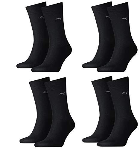 Puma Herren Classic Casual Business Socken 8er Pack black 200-39/42