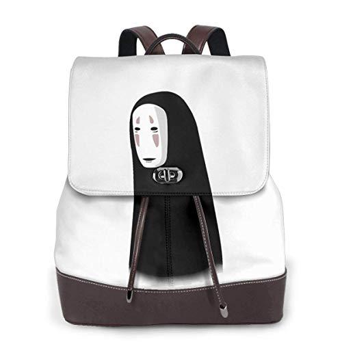 Flyup Kunst No Face Spirited Away Leder Laptop-Tasche für Youngster