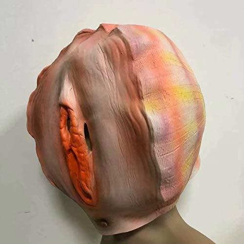 WSJMJ Maskers voor Halloween, grappig masker, horrormasker, voor volwassenen, maskerade, kostuum, latex (kleur: AS getoond)