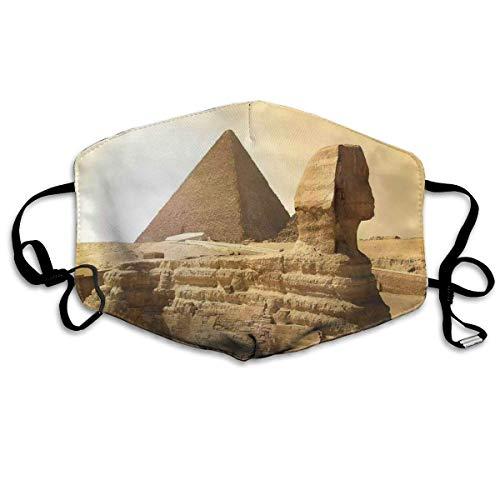 masker,Egyptische piramides Beroemde Grote Landmark Wonders Of The World Heritage View Theme Picture,Gezichtsdecoraties voor volwassenen