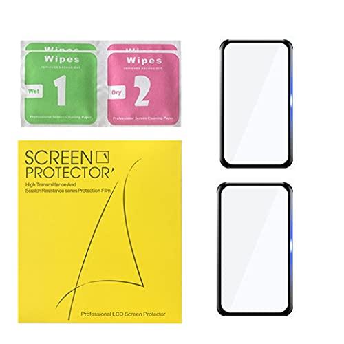 Wenyounge Película Protectora Curva 3D de 2 Piezas para Huawei Band 6 Protector de Pantalla de Vidrio Suave para Pulsera Inteligente Huawei Band 6