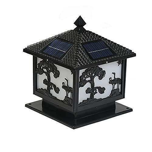 Sxxrdz Lámpara solar de exterior resistente al agua para jardín, lámpara solar LED para exterior, lámpara de mesa moderna con energía solar superior