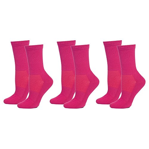 Safersox Mückensocken-Sportsocken Socken - 3er Vorteilspack Pink, 35-38
