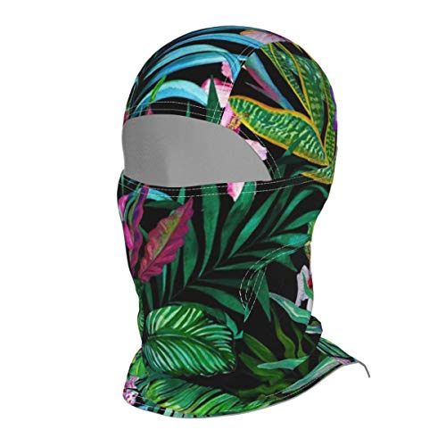 EYFlife Colorful Tropical Leaf Winter Ski Mask Balaclava Hood - Wind-Resistant Face Mask