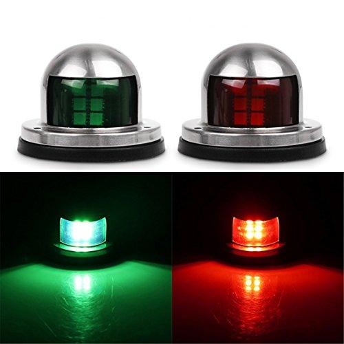AOZBZ Led Boat Navigation Lights, 12V Bow Marine Yacht Navigation Lights Port Starboard Light Red and Green Pontoon Boat Lights (1 Pair)