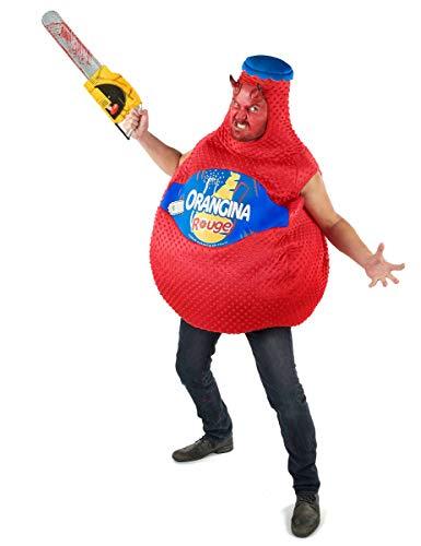 Vegaoo - Kostüm Orangina Flasche Blutroange in Rot - Einheitsgröße