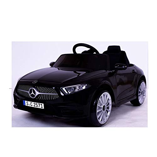 crooza Mercedes-Benz CLS350 Kinderauto Schwarz Kinder Elektro Elektrofahrzeug mit Fernbedienung mp3, USB, 2X Starke Motoren UVM.