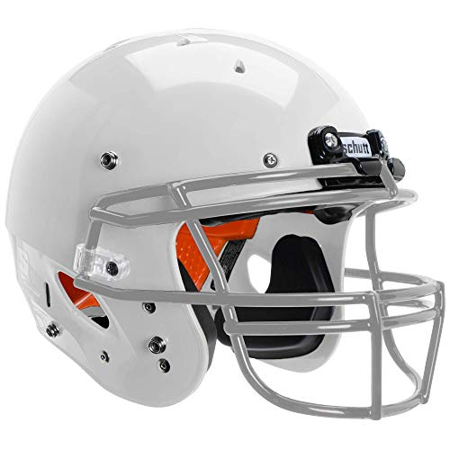 Schutt Sports Recruit Hybrid Youth Football Helmet (Facemask NOT Included), White, Large