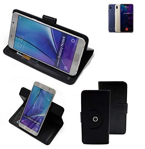 K-S-Trade® Handy Hülle Für Allview Soul X5 Style Flipcase Smartphone Cover Handy Schutz Bookstyle Schwarz (1x)