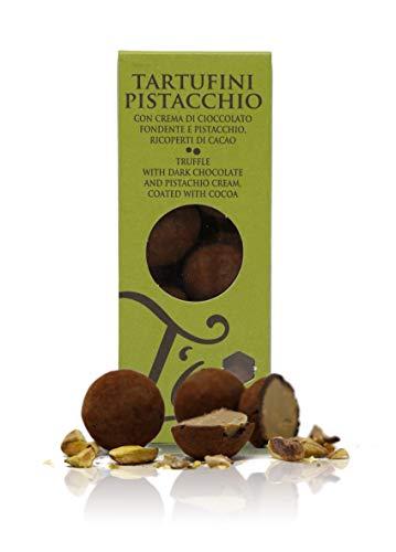 Ta Milano Trufas de Chocolate Negro rellenas de Crema de Pistacho - 130 gr