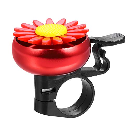 VORCOOL Fahrrad Glocke Fahrradklingel Blumen-Motiven Kinder Lenker Alarm Kinderfahrrad zubehör (Rot)