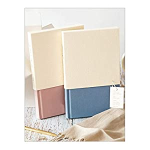 HJHJ Cuadernos A5 Blanco Línea Horizontal Notebook, 90g Premium Beige Doble Papel Offset, 192 Hojas, Hardcover Cloth Diario, Oficina for la Escuela blocs de Notas (Color : Pink+Blue)