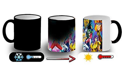 MERCHANDMANIA Taza MÁGICA Caballeros del Zodiaco Anime Magic mug