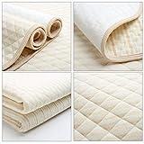 Mehrfarbige Streifen Bio Farbige Baumwolle Wasserdichte Schicht Wickelauflage Wickel Urin Pad Bettlaken für Neugeborene - Multi-Color S.