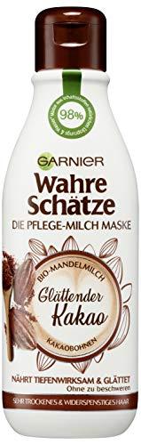 Garnier Wahre Schätze Pflege-Milch Maske Glättender Kakao, 1er Pack (1 x 250 ml)