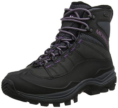 Merrell Damen Thermo Chill Mid Shell Waterproof Schneestiefel, Schwarz (Black Black), 40.5 EU