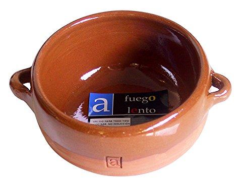A Fuego Lento Cazuela Sopa Tapeo Abombada Horno, Barro, Miel, 13 cm