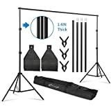 ShowMaven Heavy Duty Background Stand, 8.5ftx10ft Adjustable Photo Backdrop Stand with Carry Bag for Photography Photo Video Studio, Photography Studio, Birthday Party
