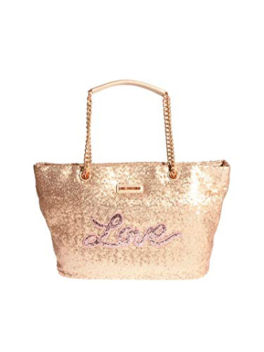 Love Moschino Sequins shopping bag gold