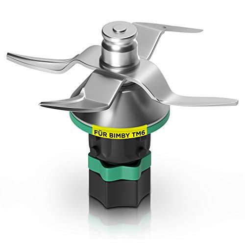 Cuchilla de acero inoxidable de repuesto para Vorwerk Thermomix Bimby TM6, incluye junta, accesorios alternativos para robot de cocina