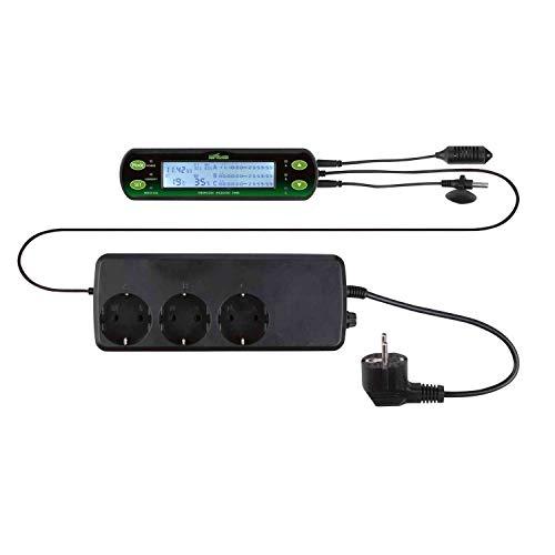 Trixie 76125 Thermostat/Hygrostat, digital, drei Schaltkreise, 16 × 4 cm
