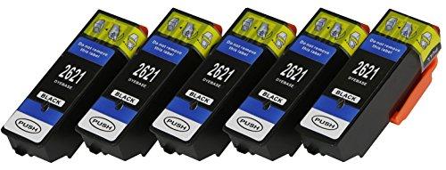 5cartucce XL solo Black con chip e indicatore di livello per Epson Expression Premium XP 510, XP 520, XP 600, XP 605, XP 610, XP 615, XP 620, XP 625, XP 700, XP 710, XP 720, XP 800, XP 810, XP 820