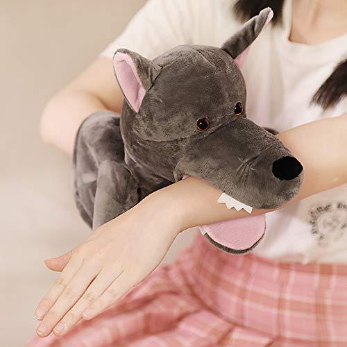 None branded Bauchredner Handpuppe Tier Handpuppe Spielzeug Handschuh Mund bewegliche Puppe Kindergarten Kinder Geschenk niedlich ca. 30cm großen bösen Wolf