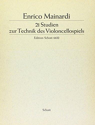 21 Studien: zur Technik des Violoncellospiels. Violoncello.
