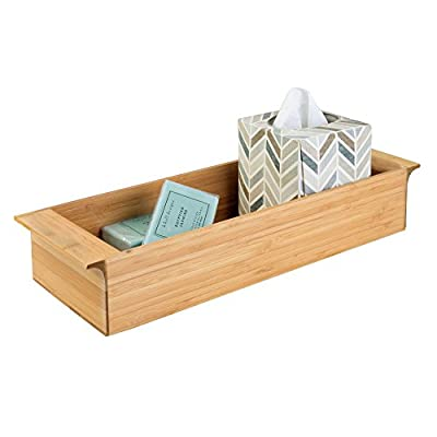 iDesign Formbu Wood Tank Top Storage Tray Wooden Organizer for Tissues