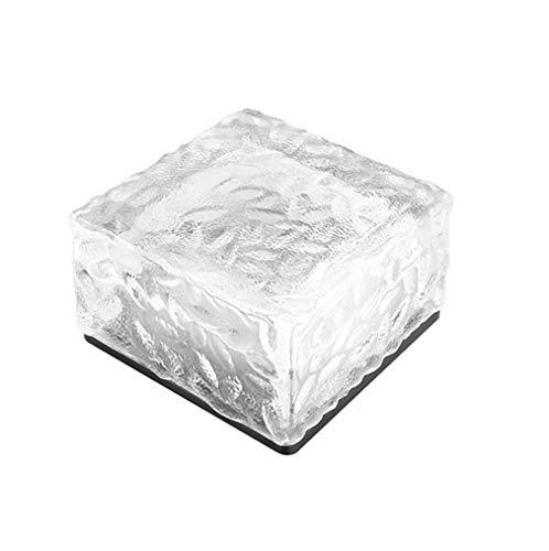 MG REAL Glasbaustein Leuchten Solarglas-Weg-Licht Im Freien wasserdichte Ice Cube Nachttischlampe Für Garten-Rasen-Quadrat-Yard-Pfad