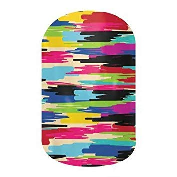 Jamberry Nail Wraps - Confused Canvas - HALF Sheet - Colorful Paint