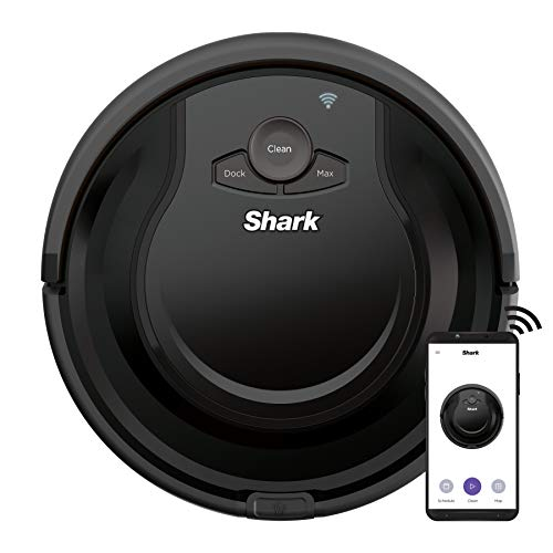 Shark AV751 ION Robot Vacuum with Wi-Fi and Voice Control, 0.45 Quarts, in Black