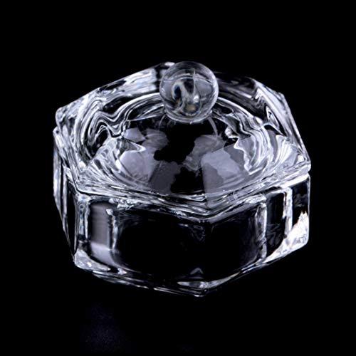 Professionelle New Nail Art Acryl Kristallglas Dappen Dish Bowl Cup Klar Nagel Werkzeuge Nail Art Transparent Kit