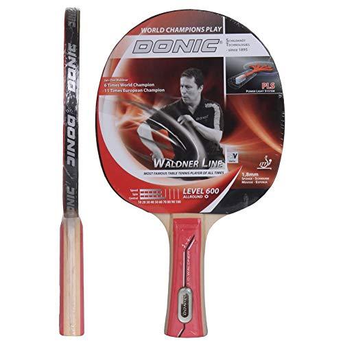 Donic-Schildkröt Tischtennisschläger Waldner 600, PLS-Griff, 1,8 mm Schwamm, Donic 2-Stern ITTF Belag, 733862