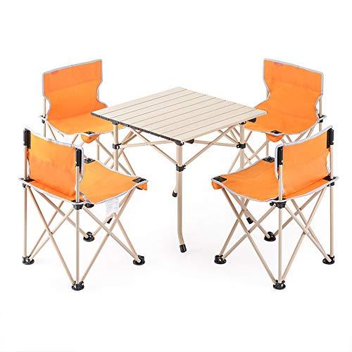 VA-DESK Mesa de Comedor Mesa Plegable para Acampar al Aire Libre Fiesta...