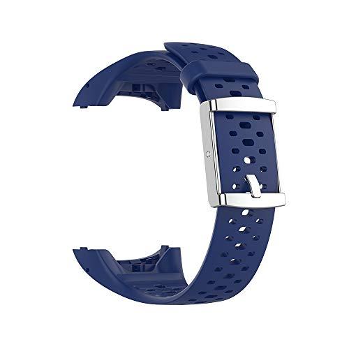 RongYooo WIIKAI Compatible con Polar M400 M430 Correas para Relojes, Correa de Pulsera de Reemplazo.(Azul Oscuro)