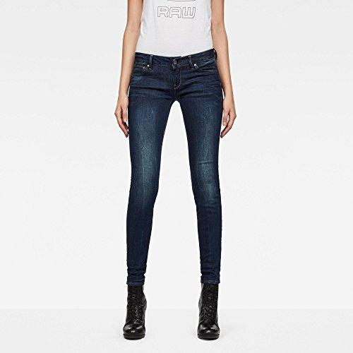 G-STAR RAW 3301 Low Waist Super Skinny' Jeans, Blu (Dk Aged 6553-89), 28W / 32L Donna'