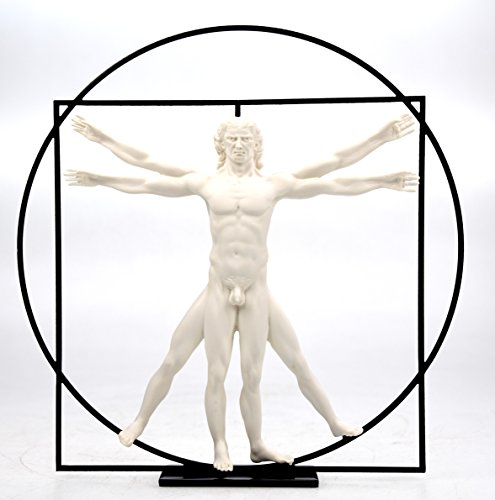 Leonardo Da Vinci Der vitruvianische Mensch (ca. 1490) Skulptur Plastik Figur DAV01