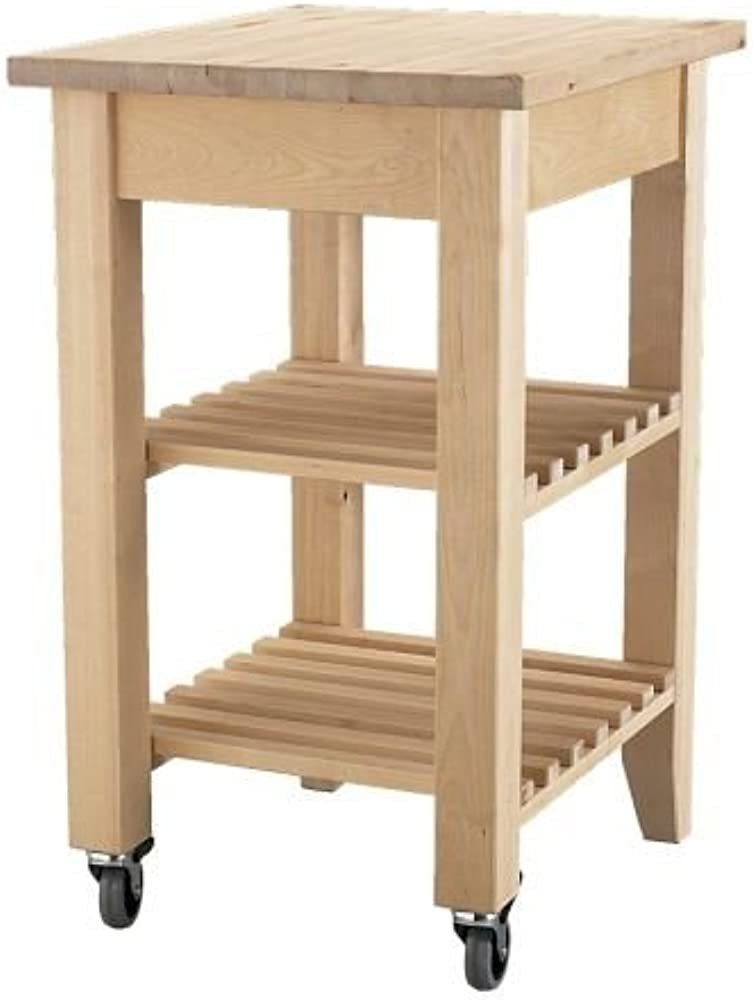 Ikea bekvÄm,carrello portavivande in legno di betulla, lunghezza: 58 cm; larghezza: 50 cm; altezza: 85 cm 302.403.48