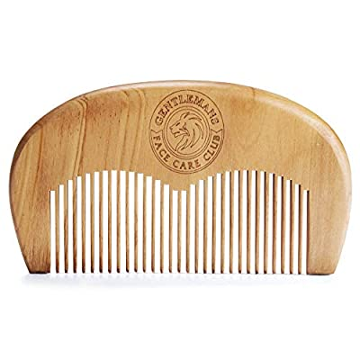 Beard Comb - Gentlemans Face Care Club Vegan Friendly Handmade Wooden Comb - Handy Pocket Size For Snag Free Moustache And Beard Care With FREE Storage Bag + Can Be Used With Beard Oil Or Wax - 100% Satisfaction Guarantee