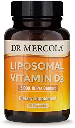 Dr Mercola Liposomal Vitamin D3 Dietary Supplement 5 000 IU 90 Servings 90 Capsules Supports product image