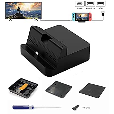 Kuxiu Gulikit Portable DIY Switch Dock Set Replacement Case Kit Compatible for Nintendo Switch, All Necessary Accessories Included Except Circuit Board Chip from Gulikit