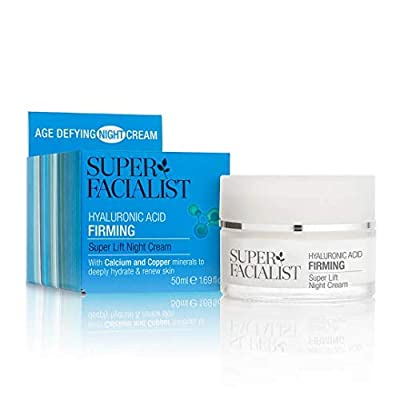 Super Facialist Hyaluronic Acid Firming Lift Womens AntiWrinkle AntiAgeing Overnight Nourishing Increases Skins Firmness Elasticity. Vegan Friendly., Night Cream, 50 millilitre from Brand Architekts