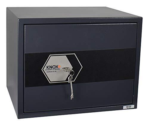 Knoxsafe Secknox2K S2 Tresor Safe Elektronik Sicherheitsschloss Möbeltresor 350 x 450 x 350 mm, matt grauschwarz