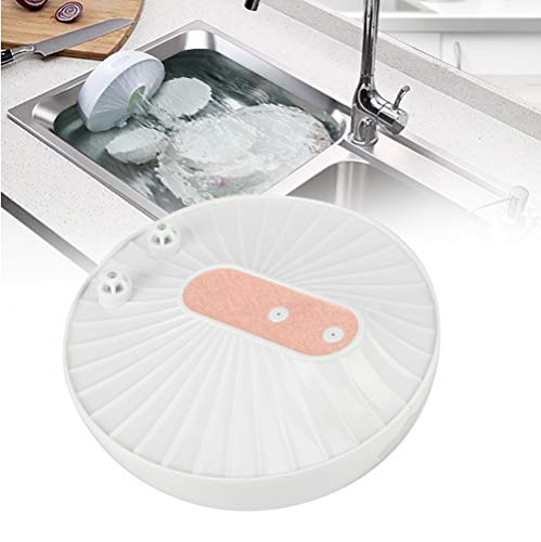 Mini-Geschirrspüler, Multifunktionaler Wiederaufladbarer USB-Ultraschall-Geschirrspüler, Integrierter Küchen-Hochdruckwellen-Designreiniger mit 10-Minuten-Zeitfunktion für Obst, Gemüse, Schüssel(Rosa)