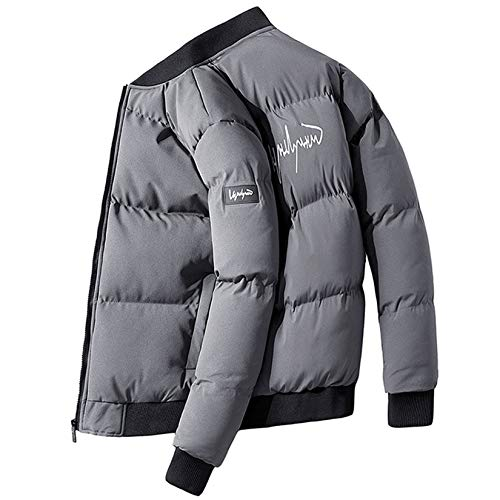 XYJD Chaqueta de algodón Chaqueta para Hombre Tendencia de Invierno Chaqueta Acolchada de Abrigo Grueso de Invierno Chaqueta Acolchada de Invierno