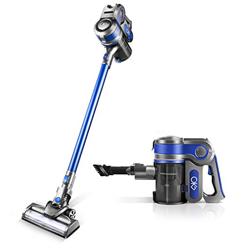 Cordless Vacuum [2020 New Upgrades] 4 in 1 Powerful Suction Stick Handheld Vacuum Cleaner for Home Hard Floor Carpet Car Pet Lightweight
