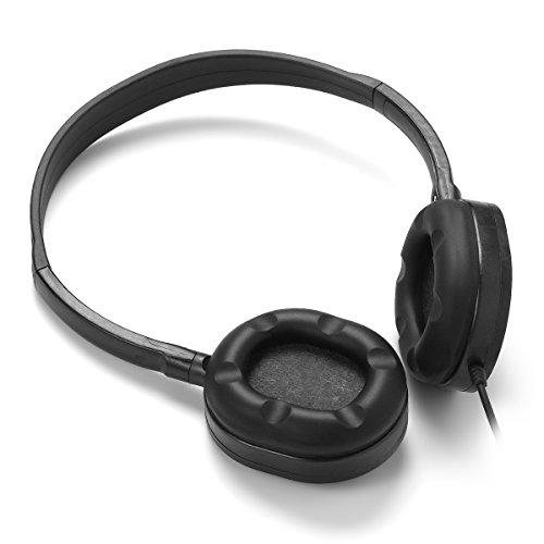 Wholesale Bulk Earphone Earbud Headphone-Kaysent(KHP-10B) 10 Pack Wholesale Headphones for School,Airplane,Hospital,Students,Kids and Adults