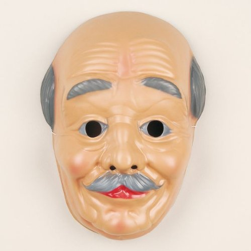 Festartikel Müller Gesichtsmaske Alter Mann Maske Opa Fasching Karneval Halloween